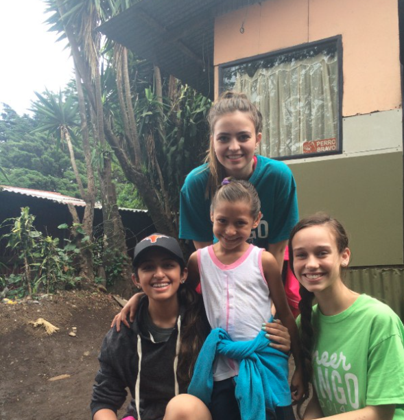 Coppell High School juniors Avery Davis, Taylor Leathers and Alina Ladha lived with a host family last summer while visiting Monteverde, Costa Rica. The group of six students led by Spanish teacher Trent Pickrell returned to Dallas on June 26.