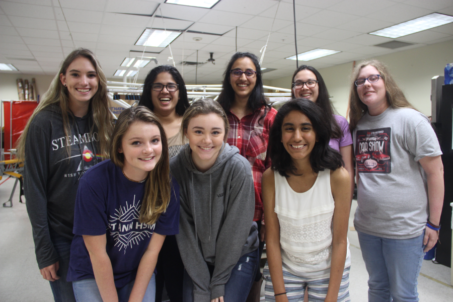 Coppell High School juniors MacKenzie Becker and Lauren Mallette are the first female Co-Presidents of the CHS solar car team. The team will have a separate car to compete in the Solar Car Challenge.