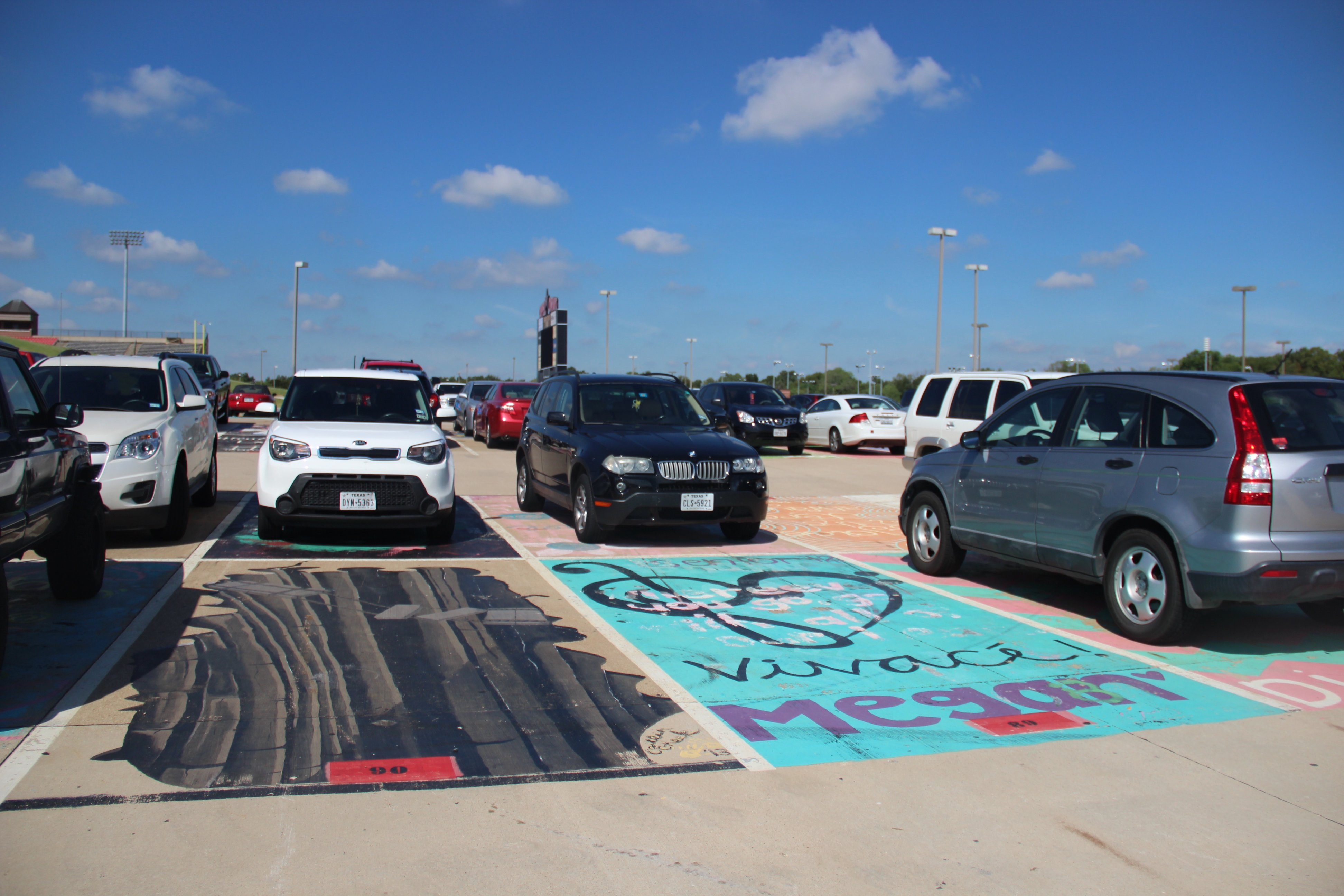 Starting in the 2016-2017 school year, Coppell High School seniors are now required to pay $40 if they want to paint their senior parking spot. Coppell High School seniors are only allowed to paint a 3-foot by 3-foot section of their space.