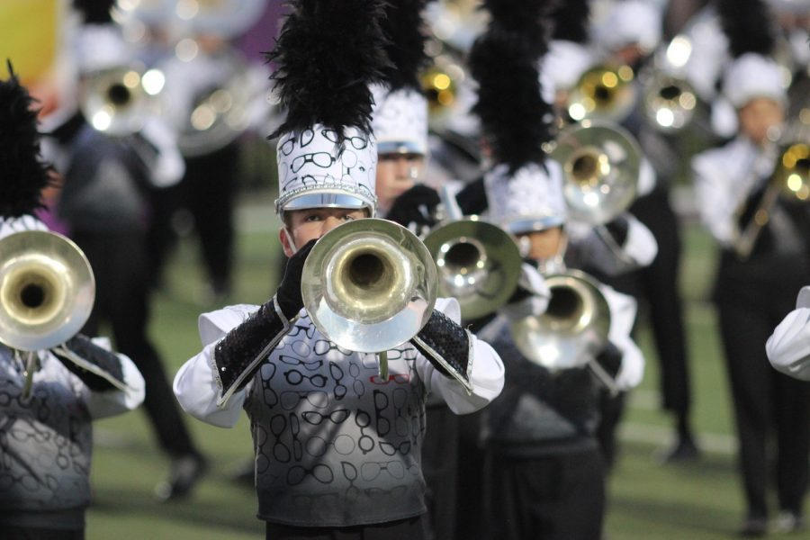 On Oct. 15, the Coppell High School band competed in the Plano East Marching Invitational, tying with the Marcus High School band for second place. The band will be traveling to Pennington Field on Oct. 29 to compete for the UIL Area B 6A Area title.