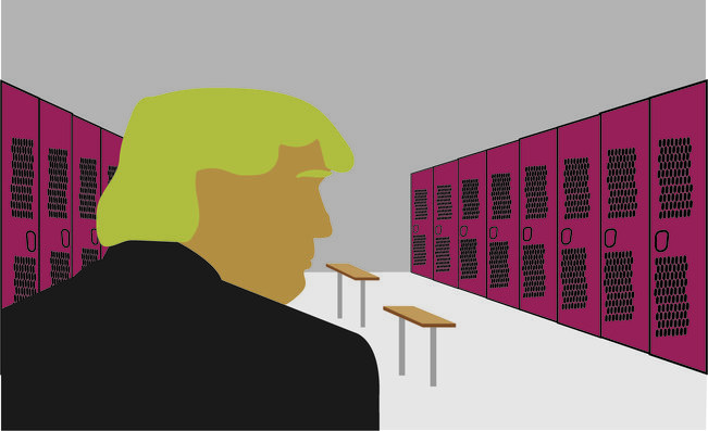 After+making+crude+remarks+about+women%2C+republican+presidential+nominee+Donald+Trump+disregarded+it+as+%27locker+room+talk%27.+However%2C+this+may+misrepresent+how+guys+and+locker+rooms+truly+are.