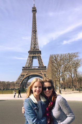 Coppell High School sophomore Hannah Dunkin stands in front of the Eiffel Tower in Paris, which she visited in March. Dunkin has spoken French for many years, which has helped her form a stronger connection to her French culture.