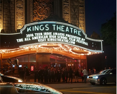 Kings Theater hosted the All American High School Film Festival in New York, which screened the film Ephemeral on Oct. 3. Coppell High School senior Jess Goode and graduate Nick Castorina attended the festival.