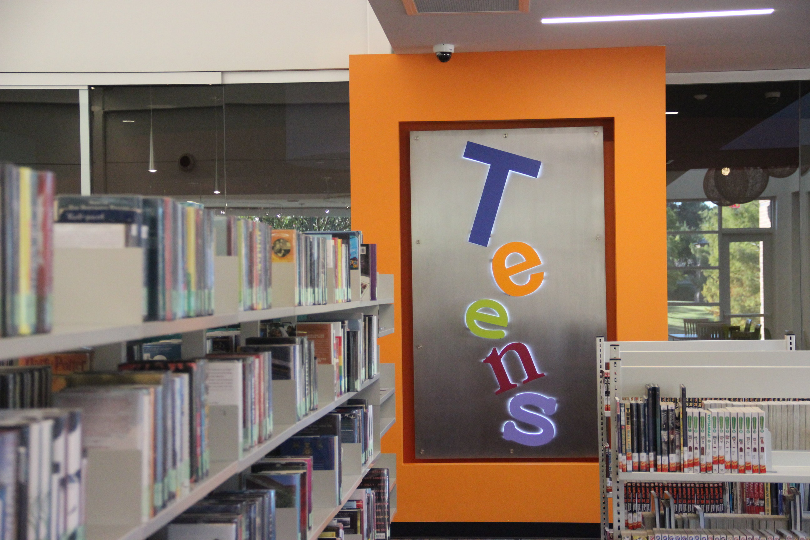 One+of+the+many+new+spaces+in+the+William+T.+Cozby+public+library+is+designated+for+teens+to+have+a+place+to+study+quietly.+The+newly+renovated+Cozby+Library+is+now+open+to+the+public%2C+but+will+have+its+official+opening+ceremony+on+Nov.+20.%0A%0A