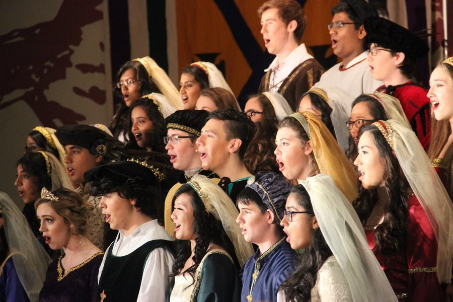 Madrigals performs a song during the Madrigal Feast.