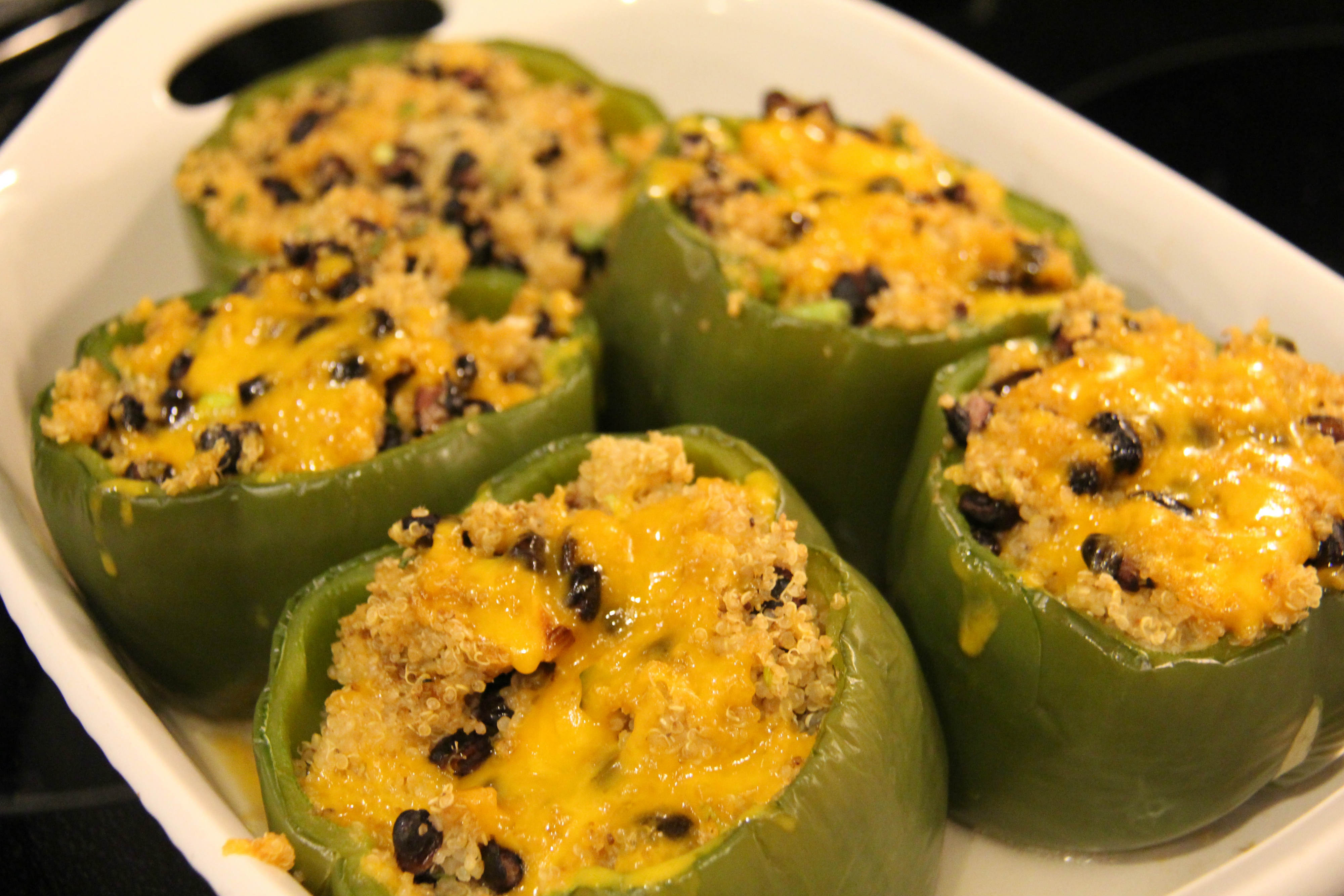 This quinoa recipe, which cooks in around 30 minutes, is healthy yet still has lots of flavor. Perfect for leftovers, these quinoa stuffed green peppers can provide you with a lighter alternative to one of your weekly recipes.