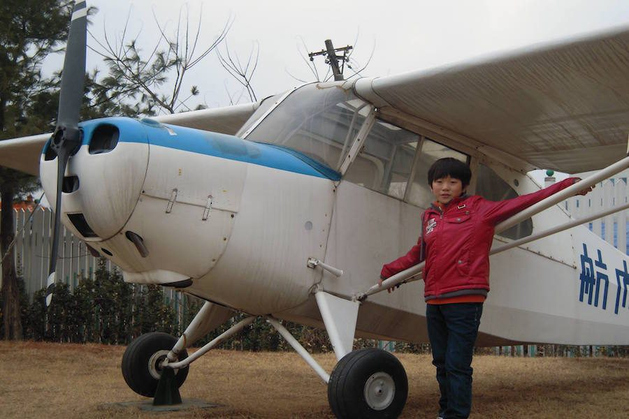 Coppell+High+School+junior+Sangjun+Lee+visits+an+aeronautical+university+in+Korea+at+age+9.+Lee+has+been+interested+in+becoming+a+pilot+due+to+his+grandfather%E2%80%99s+experience+in+the+Vietnam+War+living+behind+the+air+base.+He+was+able+to+visit+universities+and+run+simulations+of+flying+planes+as+a+kid+and+has+continued+his+interest+by+spending+time+researching+planes.+Photo+courtesy+Sangjun+Lee.