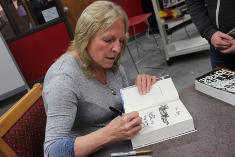 Hopkins regales CHS students with her books, life stories
