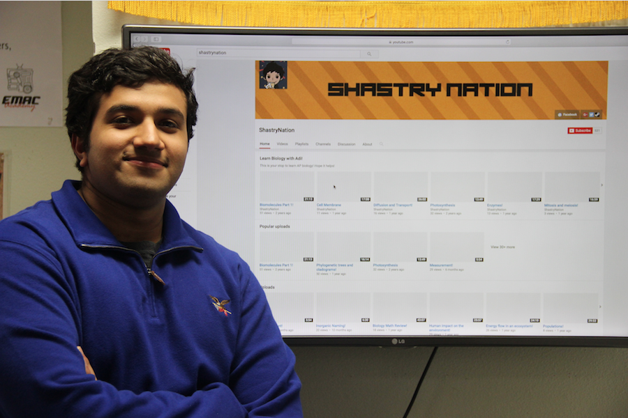 Coppell High School senior Adithya Shastry helps students better understand complex science concepts through his YouTube channel, ShastryNation. Shastry created his channel after discovering his passion for science after taking an Advanced Placement (AP) Biology class.