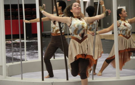 Winter guard takes third place at Dallas Regional Winter Guard Contest