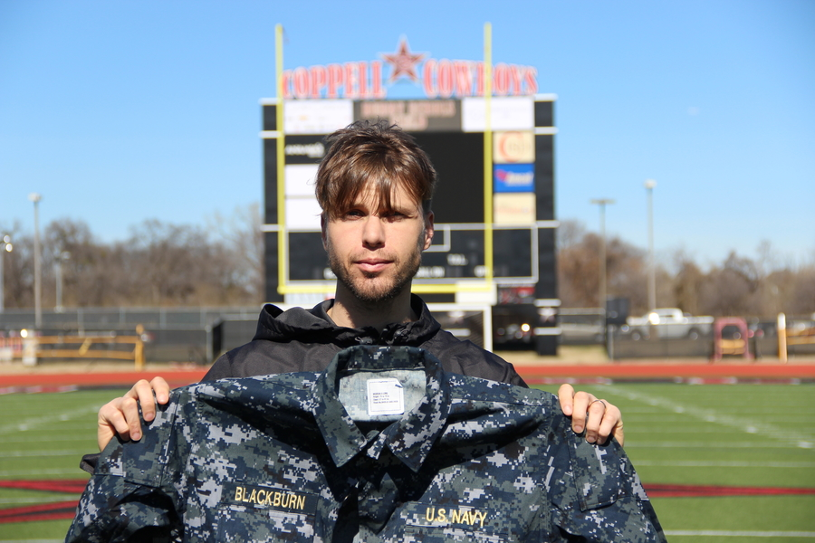 Coppell High School assistant boys soccer coach David Blackburn was selected to train to be a naval intelligence officer in early 2014. Blackburn has been immersed in the military lifestyle since he was a child, his father being a former Navy officer. Photo by Amanda Hair.