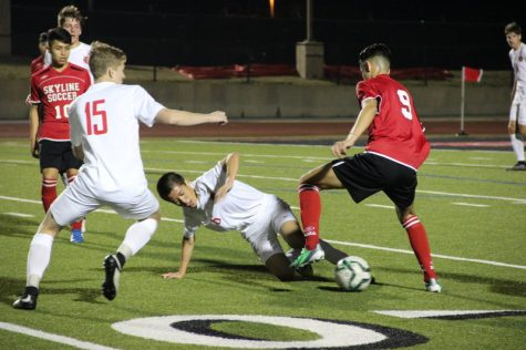 Coppell Cowboys soccer victory over Skyline Raiders