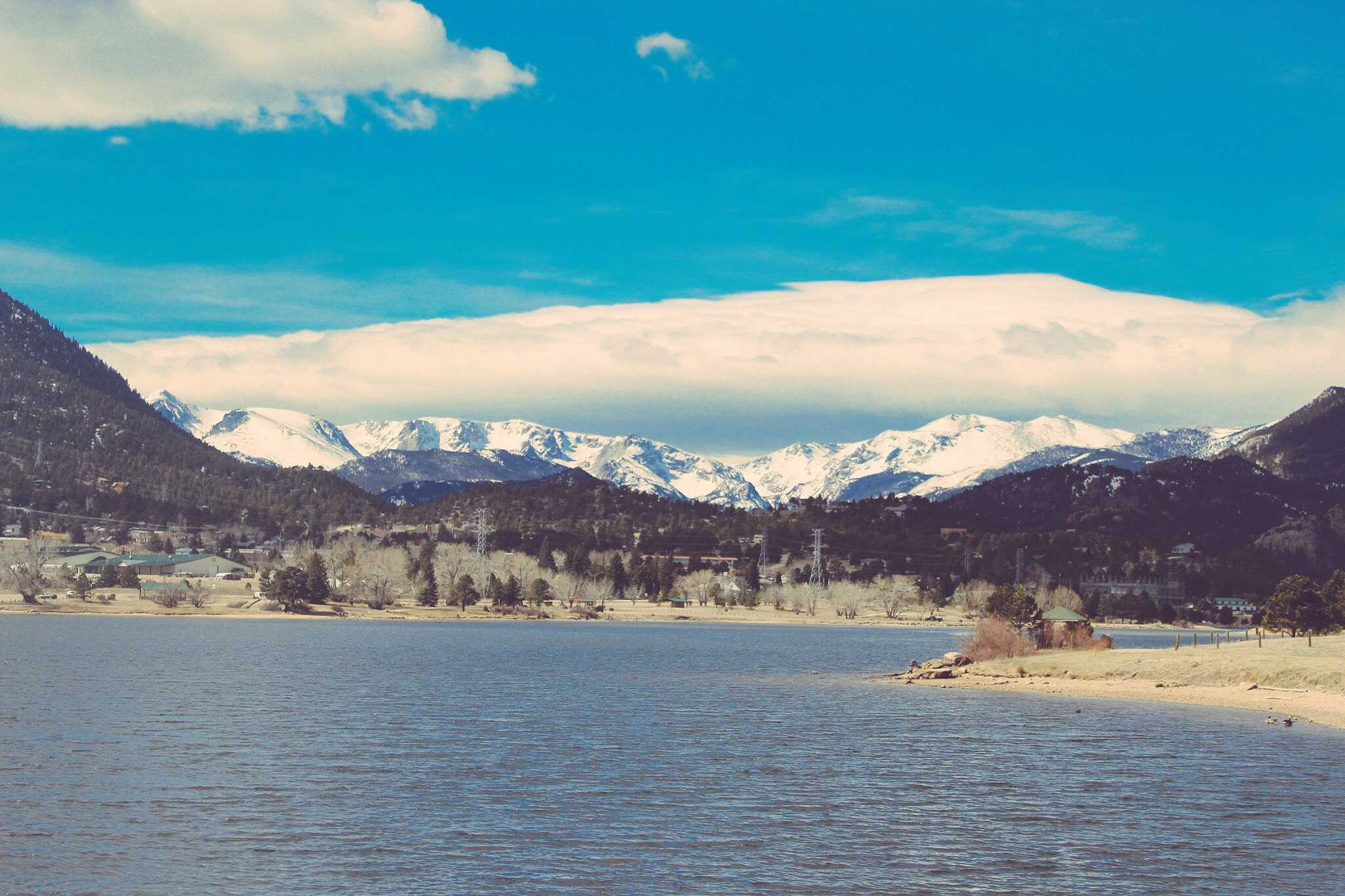 A Spring Break vacation to Estes Park, Colorado includes these stunning views. The trip was spent hiking mountains, including the Meker mountain, showed in the following picture.