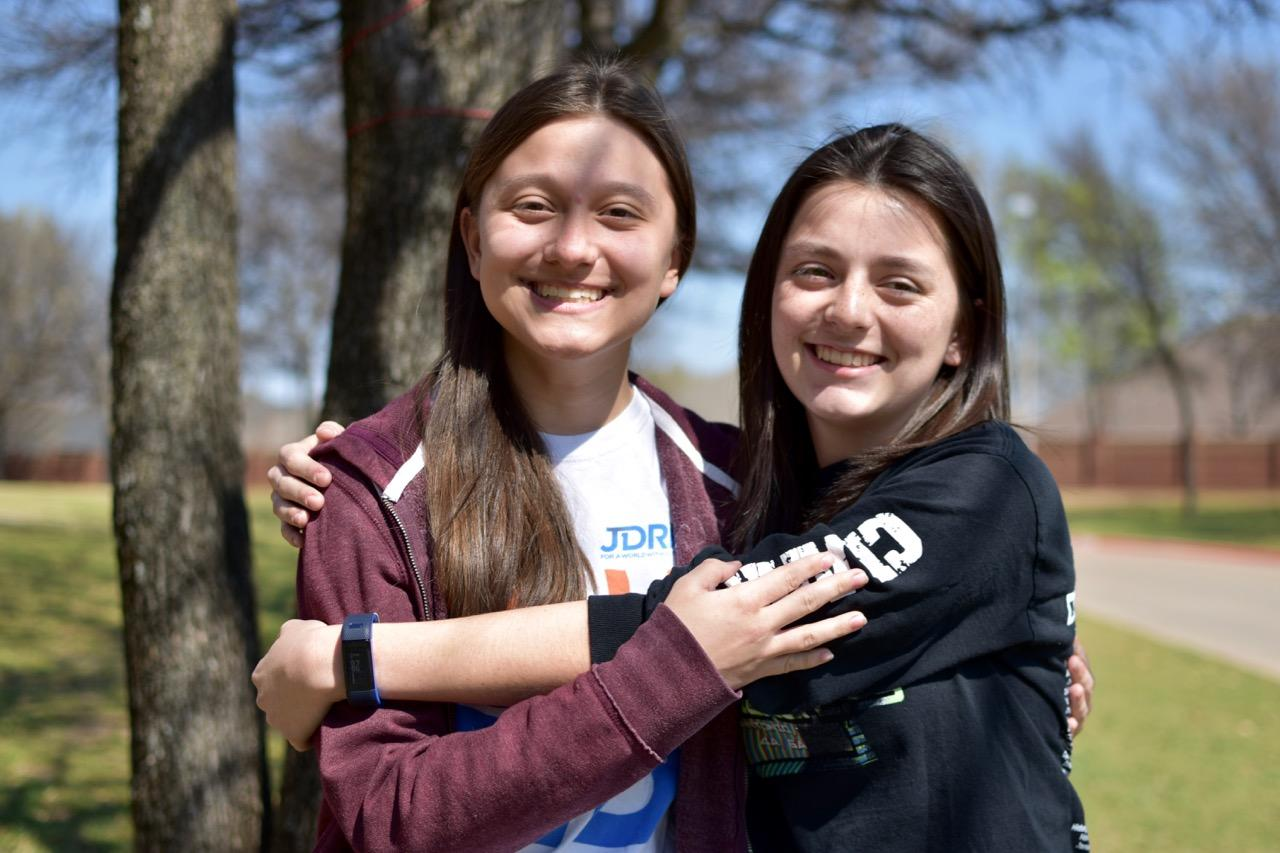 Coppell High School freshmen Abby Ramos ( left) and Alyssa Ramos (right ) are twins yet they have very different interests. The Ramos sisters enjoy different activities yet they still share a special bond.