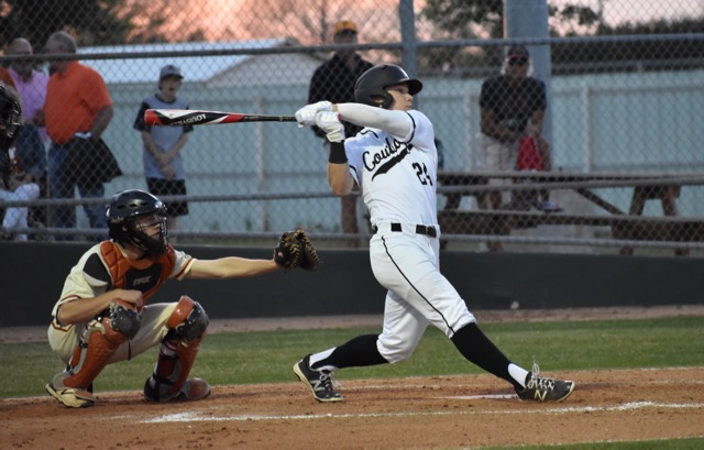 Coppell+High+School+sophomore+Blake+Jackson+bats+during+the+second+inning.+The+Cowboys+defeated+W.T.+White+11-1+on+Friday+night+at+the+CISD+Baseball-Softball+Complex.%0A%0A