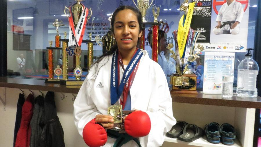 Coppell High School freshman Aditi Mutagi learned to embrace trying new things through her experiences practicing karate at Champion Karate Academy. What was initially a simple hobby and a way to relax after school has grown into an activity she competes at nationally.