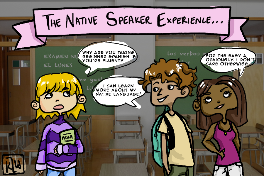 Being a native speaker in a LOTE classroom lends to a variety of experiences - some good and some bad. Nevertheless, benefits are presented to all in the class.