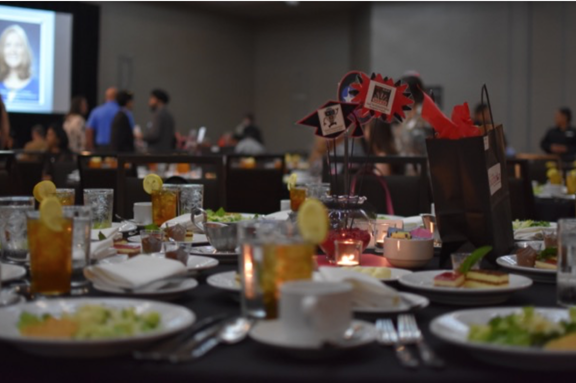 The Academic Recognition Banquet is annual event hosted by the Education Foundation that honors the Top 5 percent graduating senior students, along with a Coppell ISD teacher who has made the most positive impact on each student's academic career and life.