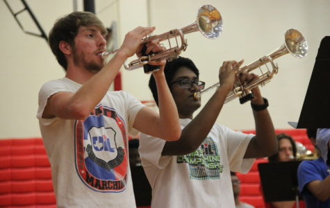 Creating a hype for 2016-2017 Coppell High School band members