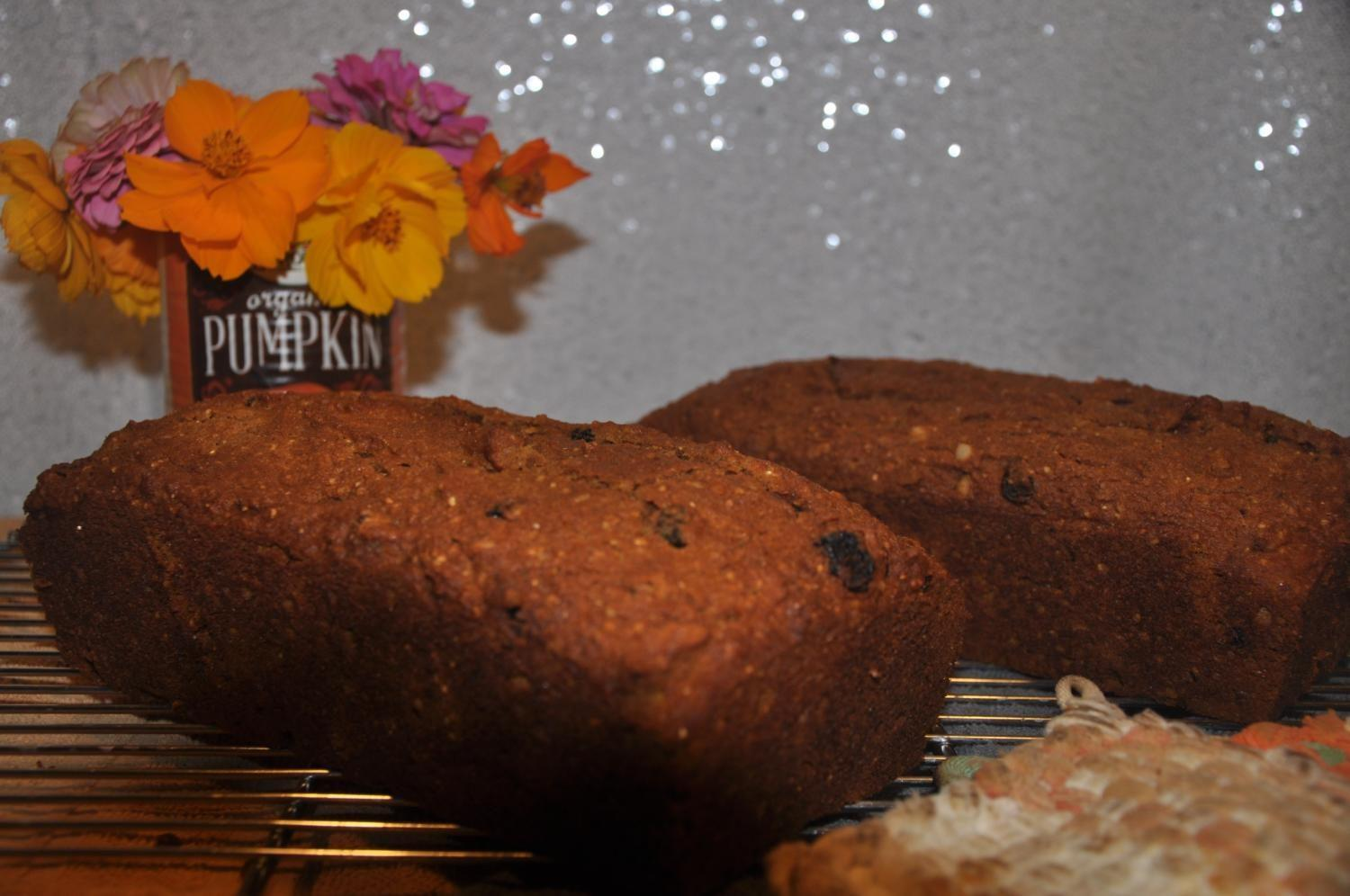 Pumpkin bread is a great go to fall treat. This recipe makes two loaves of raisin pumpkin bread for readers to enjoy.