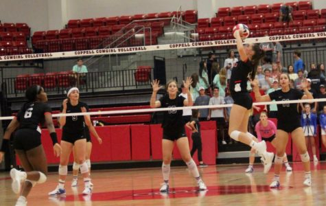 Wake up call: A rough third set leads to Coppell responding with a win