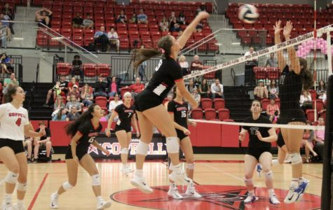 Digging for the cure with the win for cowgirls volleyball