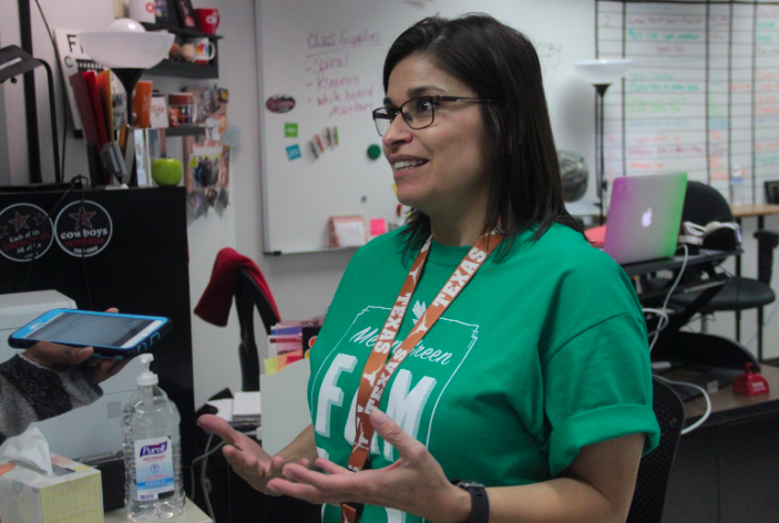 Coppell High School's KCBY-TV adviser Irma Kennedy talks about being a finalist for the 2017 National Scholastic Press Association Broadcast Pacemaker award on Tuesday. The NSPA Pacemaker is a prestigious award for high school media, which KCBY won in 2015.