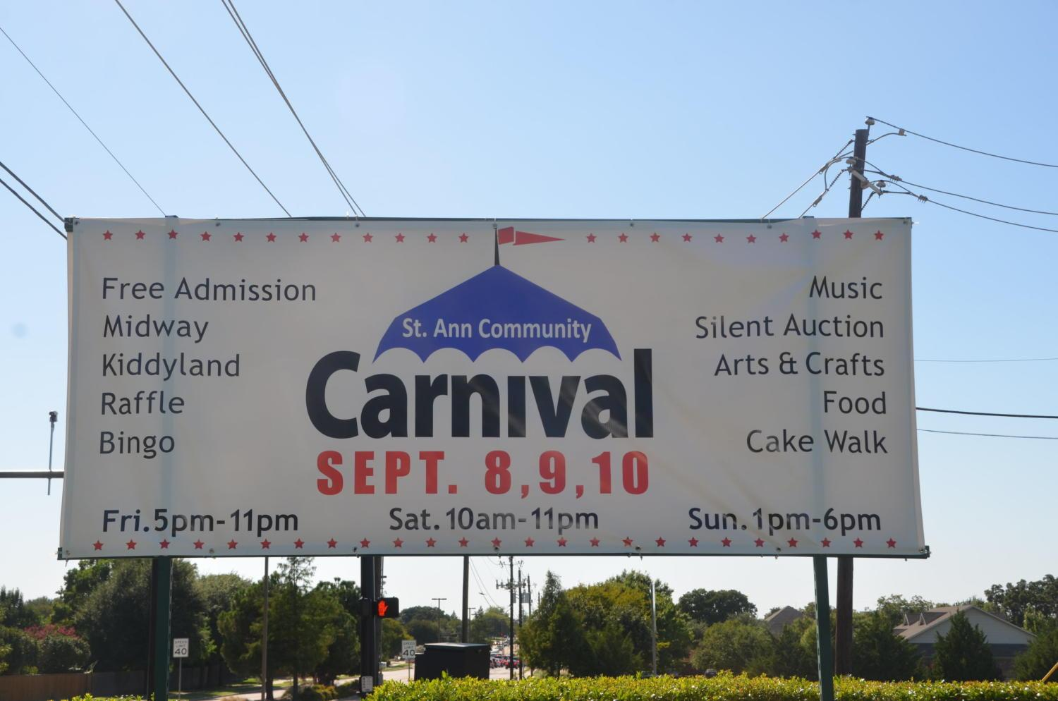 The St. Ann Community Carnival is taking place outside of the church from Friday through Sunday. From games and crafts to rides and music, the event is welcome to people of all ages.