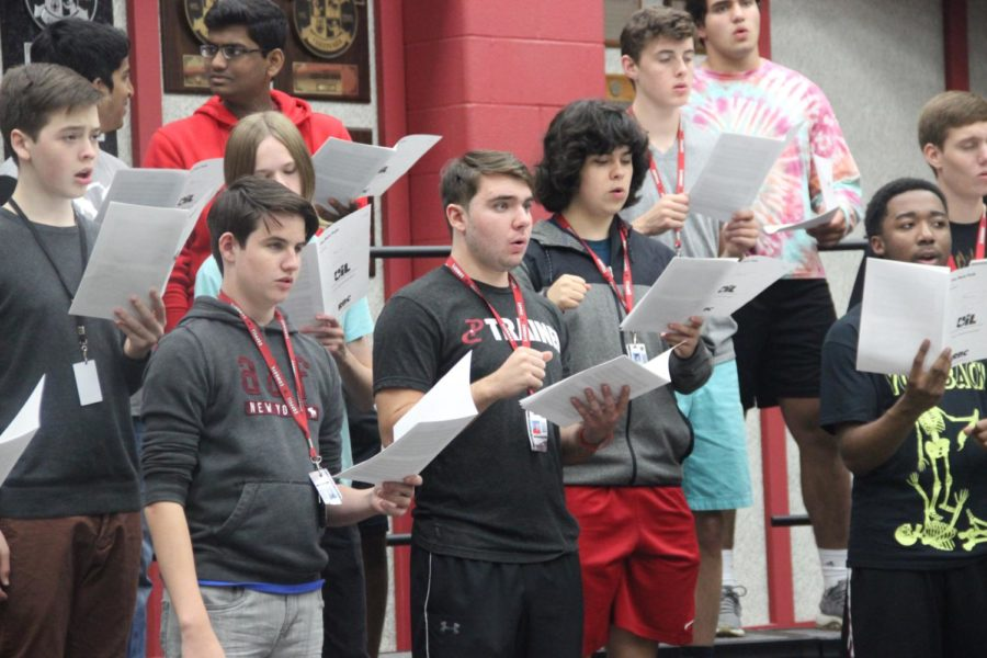 Coppell High School choir students auditioned at the Texas Music Educators Associations All-State Choir District, several choir students who made it past district auditions by practicing for hours before and after school. All-State is considered high achievements for students in the arts.