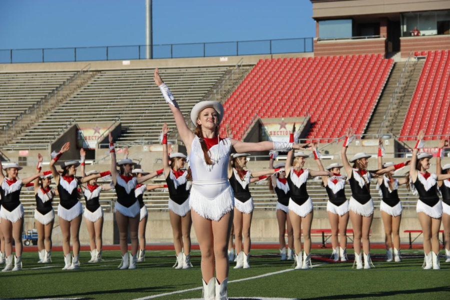 Coppell+High+School+Lariette+senior+Sarah+Wales+dances+during+the+homecoming+pep+rally.+On+Friday%2C+the+annual+homecoming+pep+rally+got+students+excited+for+the+homecoming+game+Friday+night+and+the+homecoming+dance+on+Saturday.