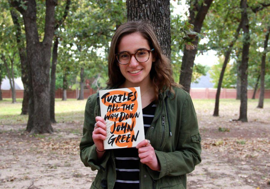 Coppell+High+School+senior+Jess+Hernandez+recommends+the+new+book%2C+Turtles+All+the+Way+Down+by+John+Green.+The+book+tells+a+story+of+a+teenager+dealing+with+OCD+trapped+in+her+own+mind%2C+and+was+released+on+Oct.+10.