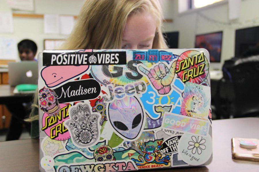Laptop+stickers+are+a+popular+trend+amongst+teens.+From+self+expression+to+creativity%2C+students+at+CHS+have+all+different+reasons+for+decorating+their+technology+with+them.