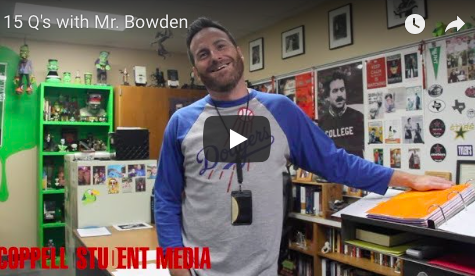 15 Q's with Mr. Bowden
