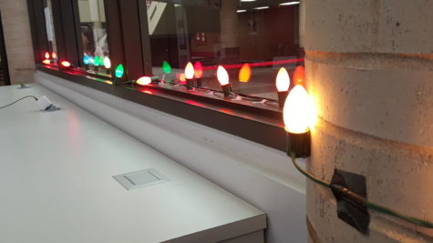 The Coppell High School library gets into the holiday spirit by adding Christmas lights this week back from Thanksgiving break. Adding festive lights in the library lightens the mood for students even more as they get ready for winter break.