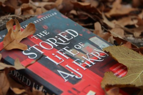 Coppell High School senior Jess Hernandez makes book selections for the fall season. The fictional book The Storied Life of A.J. Fikry by Gabrielle Zevin is included in this selection.