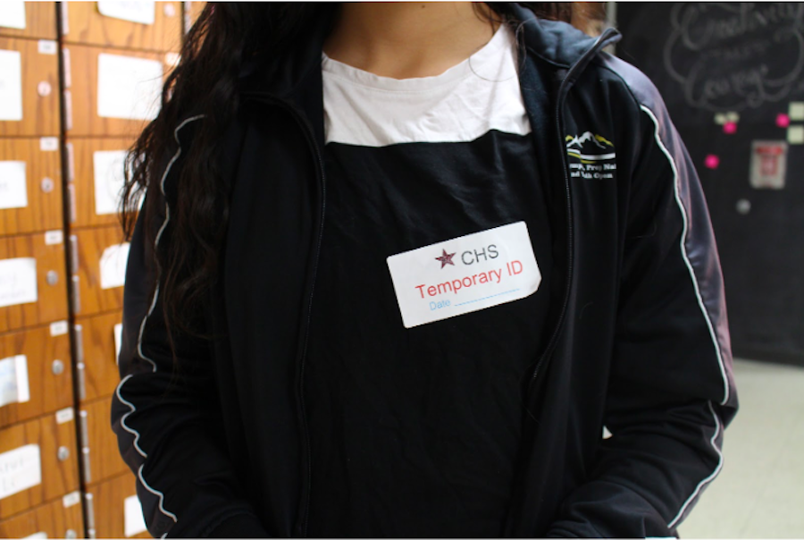 Coppell High School requires students to wear their school ID on them or on their backpack. Before entering class, teachers are to insure their students have their lanyards with their own ID or get a temporary ID.