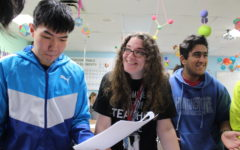 Sheppard at ease in classroom with IB, honor students