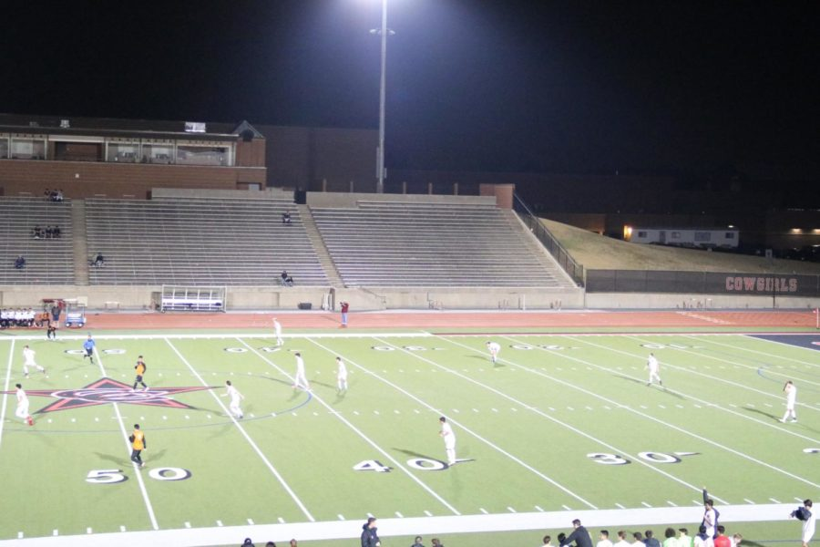 The Coppell Cowboys soccer team introduced a new field formation which they implemented during the game on Feb. 9 at Buddy Echols Field. The new formation proved to be beneficial as the Coppell Cowboys defeated the WT White Longhorns 2-1.