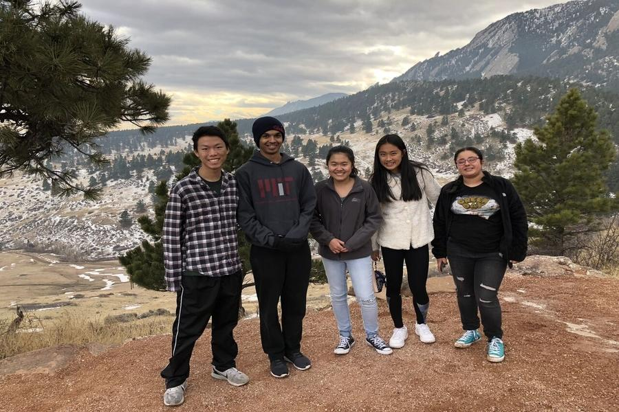 The Coppell High School Got Passion for Science Club goes on a hike while in Colorado from Feb. 2-4. The team traveled to Boulder, Colo. to compete in the National Oceans Sciences Bowl which was moved from Galveston due to Hurricane Harvey.