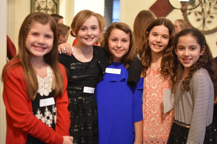 Lakeside Elementary students get together on Feb. 23 before Friday night Cotillion to have snacks and interact with each other along with parents. Cotillion is a class, typically for elementary or middle school kids, in which they learn basic table manners, social manners and formal dances.