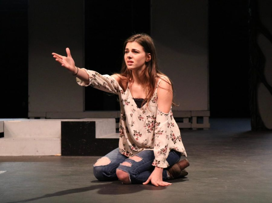 Coppell+High+School+senior+Georgia+Cole+is+part+of+the+premiere+and+fame+classes+taught+by+theater+teacher+Lisa+Tabor.+Cole+has+been+acting+since+she+was+in+kindergarten+and+will+be+attending+OU+as+a+drama+student+in+the+fall.+