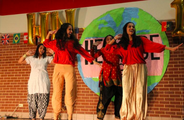 Coppell+High+school+juniors+Prajina+Vootukuri+and+Mourya+Yerramreddy+dance+at+Heritage+Night+on+Friday+night+in+the+CHS+commons.+Heritage+Night+is+where+people+of+different+heritages+come+together+for+one+night+and+show+off+their+talents+and+skills.+Heritage+Night+will+be+held+in+the+Coppell+High+School+commons+on+Mar.+23+at+6+p.m.+