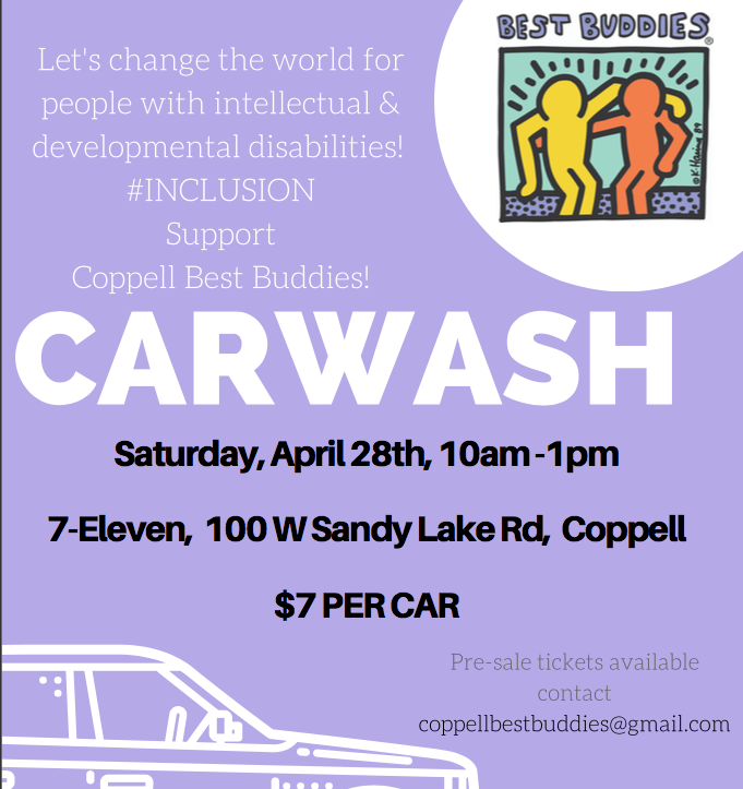 On the Spot: Coppell Best Buddies to host fundraising car wash