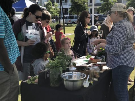 At the farmers market kids went to different stations to learn about what are healthy foods and how they are beneficial to them. This Saturday the Coppell Farmers market in Old Town Coppell planned a day for the kids in order to teach them the importance of healthy living.
