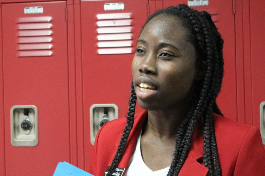 Coppell senior Rachel Okereke leads tours for incoming freshmen alongside other Red Jackets. As the school's leaders, Red Jackets partakes in many community activities and exemplify leadership in a multitude of ways.