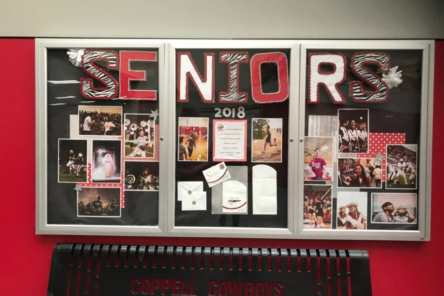 AboardintheCoppellHighSchoolhallway On the Spot Seniors finalizing college