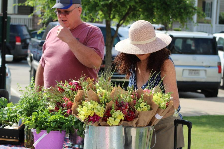 With Mother's Day coming up, the Coppell Farmers market had bouquets available to those who wished to purchase them for someone special in their life. The Farmers Market is open from 8 a.m. to 12 p.m. every Saturday in Old Town Coppell.