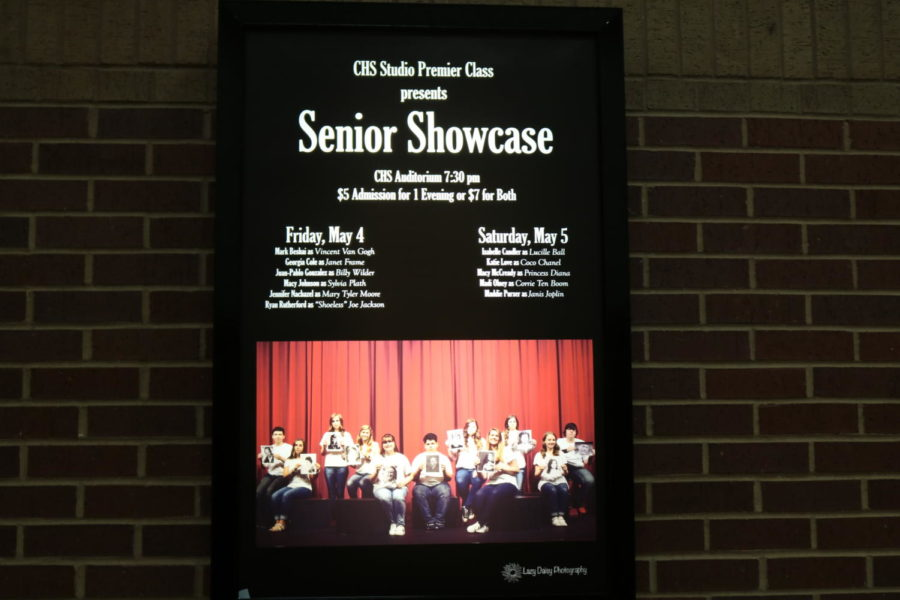 Coppell High School premier class is presenting a senior showcase. The seniors who are in theater had written, directed, acted, and costumed their own original ten minute one man show which is showcasing on May 4. and May 5.