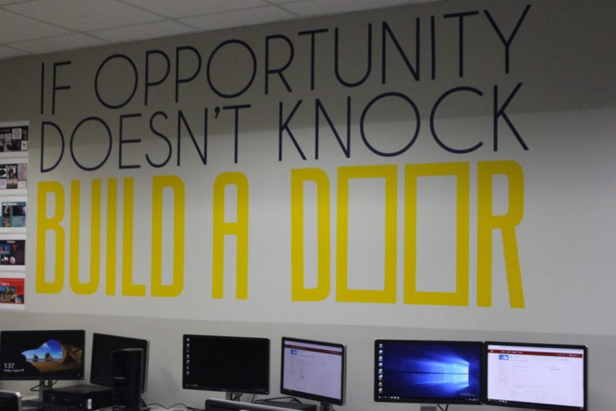 CHS engineering teacher Pilar Castro-Zeña mentioned how she has  quotes written on her walls on August 24th, 2018. She explains how it keeps the work space more positive and welcoming for her diverse group of students, and the particular quote is her favorite.