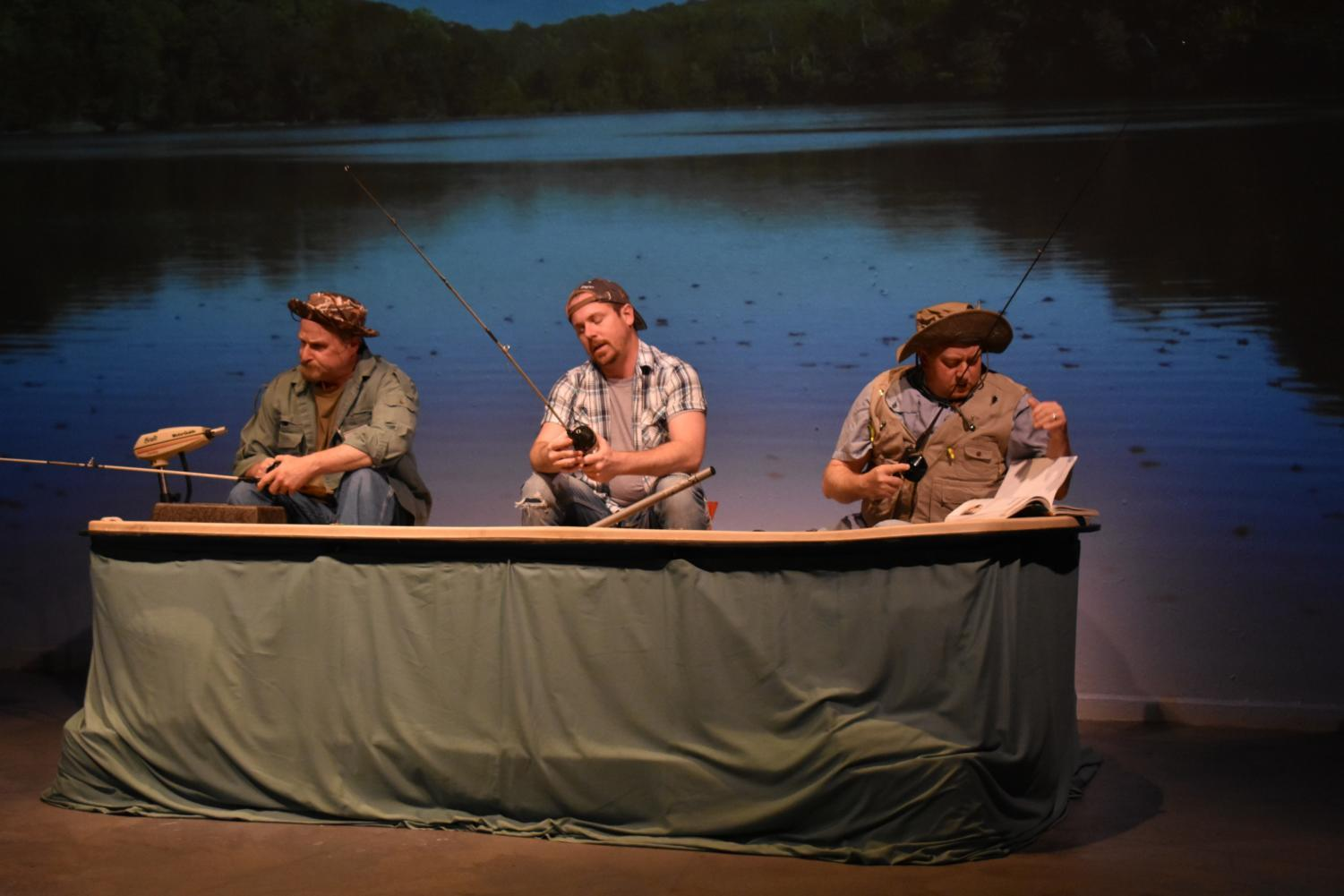 "In Theatre Coppell's production of ""Reel Men, the Fitzhugh Brothers"", brothers Walt (Mark Roberts), Andrew (Thomas Caldwell) and Richard (Martin Mussey) fish together. The original play follows the three brothers as they bond on the fishing trip, and was performed numerous times between Aug. 17 and last Sunday."